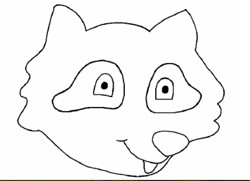 Raccoon Face - Free Coloring Pages Raccoon Face Coloring Page