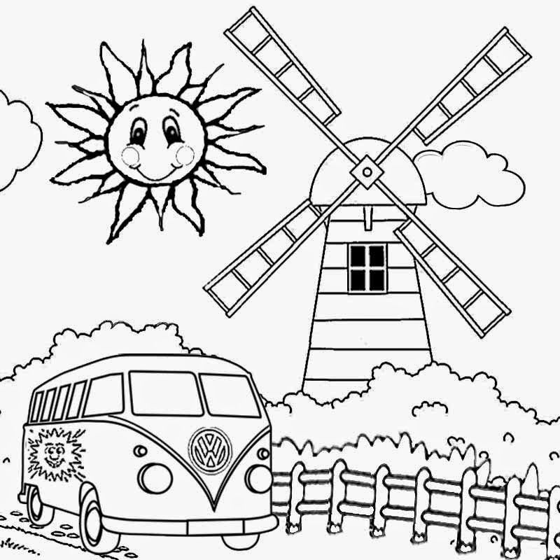 Preschool Camping Coloring Pages Coloring Home
