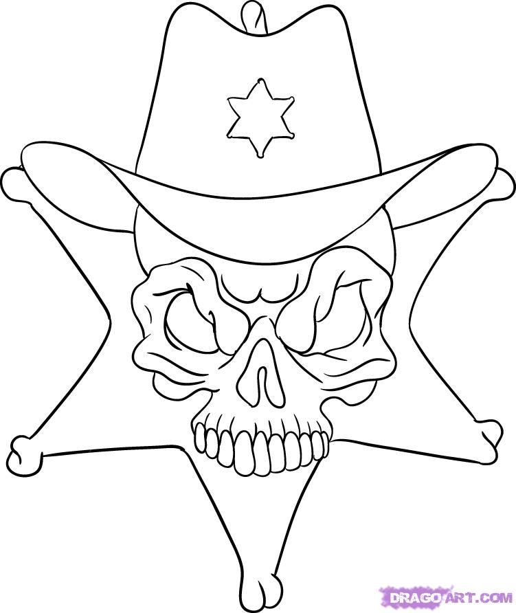 Sheriff Star Coloring Page