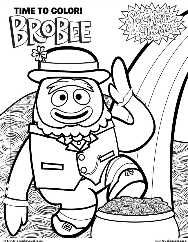 brobee coloring page brobee coloring page az coloring pages