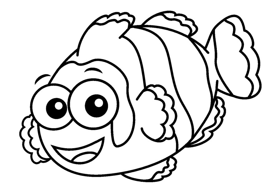 Fish coloring book pages az coloring pages for Color pages of fish