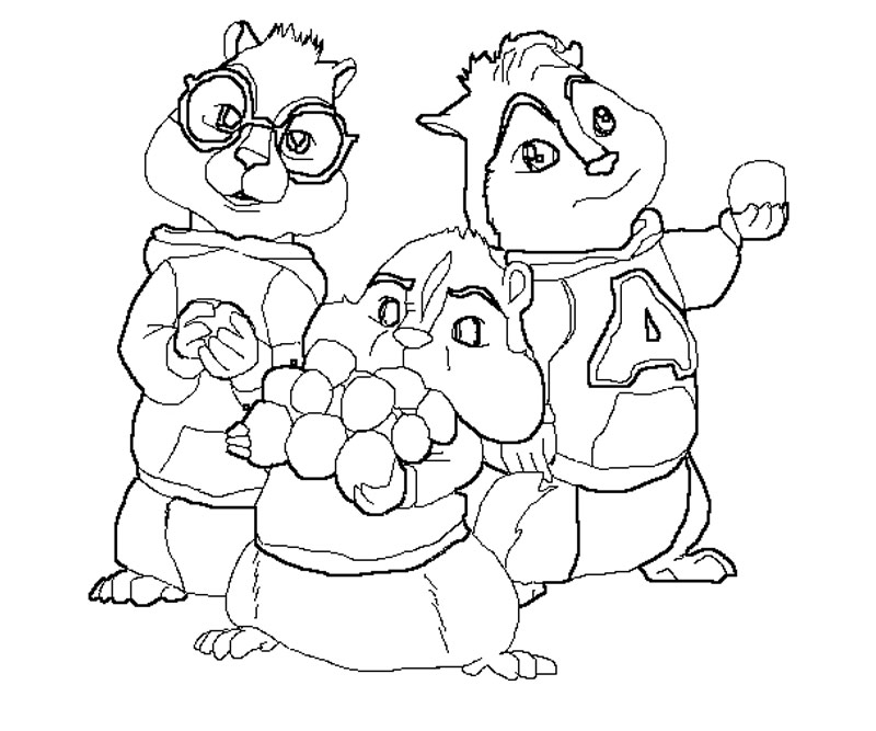 Alvin And The Chipmunks The Squeakquel Coloring Pages Az Alvin And The Chipmunk Coloring Pages