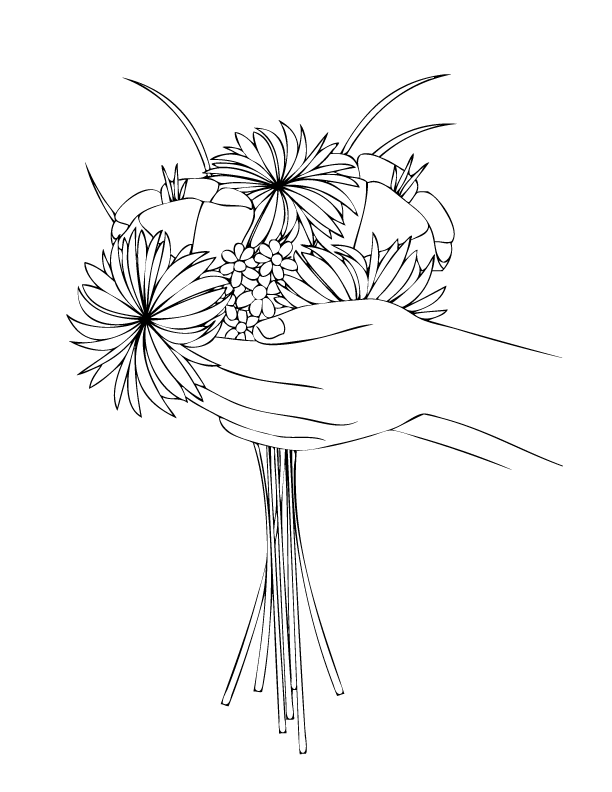 bouquet of flowers coloring pages for kids