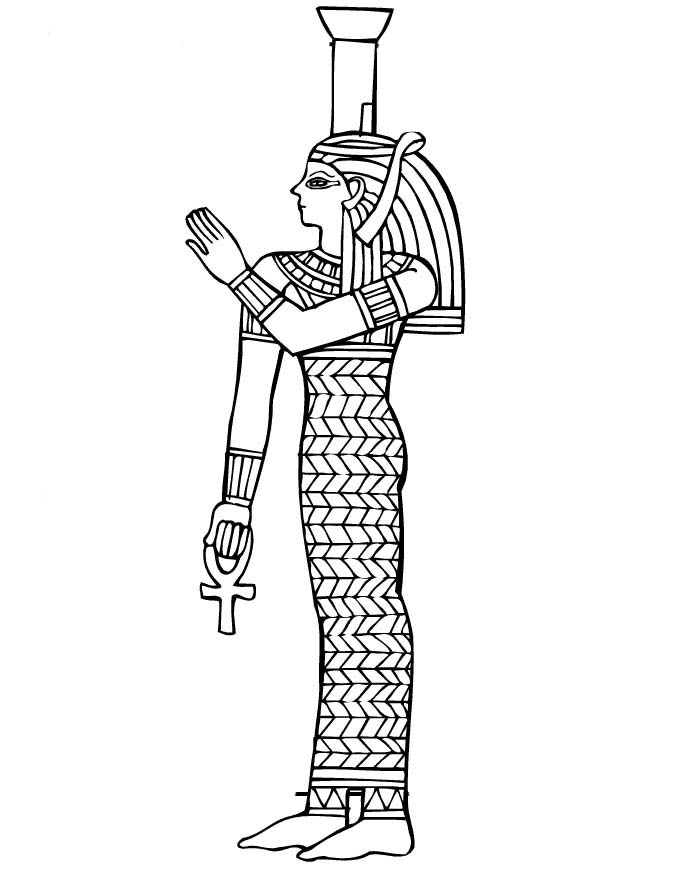 egyptian women coloring pages - photo#18