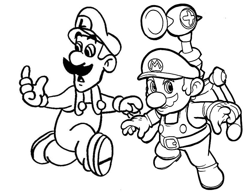 coloring pages mario games - photo #12
