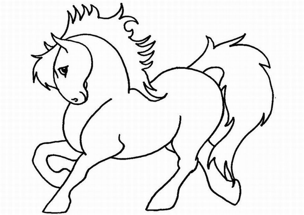 horse coloring pages for girls coloring home