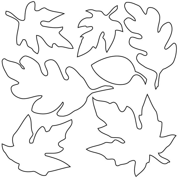 fall leaf template | Black and white Pictures for color and sewing an…