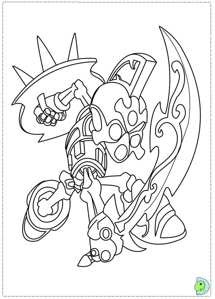 Skylander Coloring Pages To Print