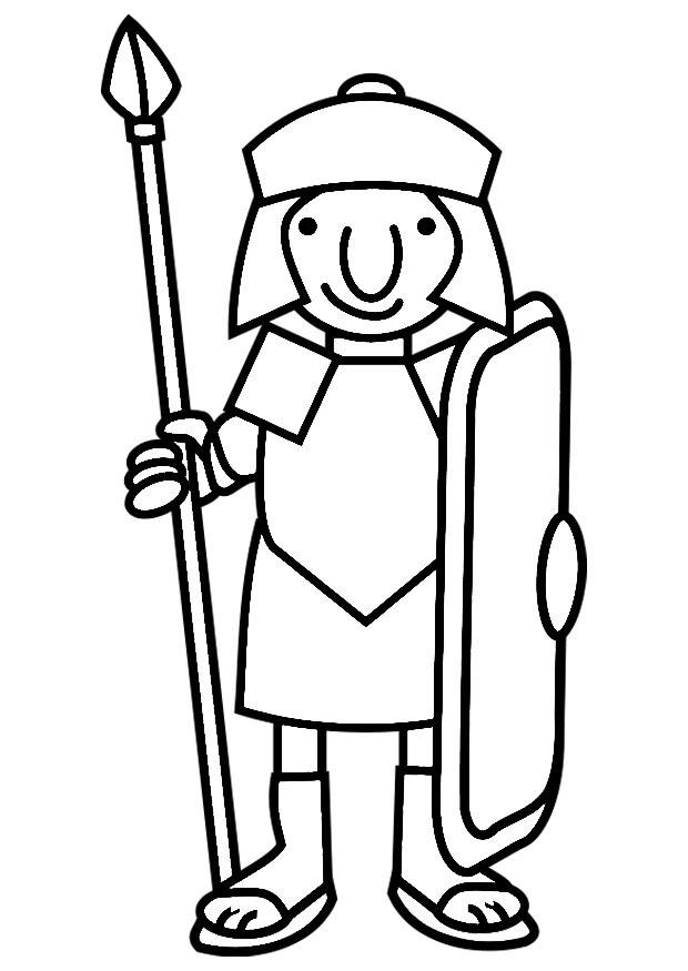Roman Soldier Coloring Pages