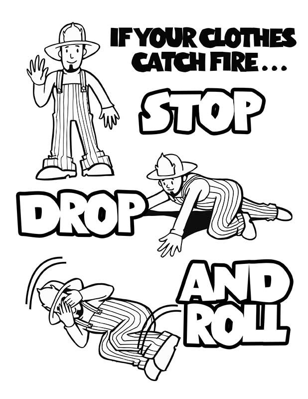 Fire prevention week coloring pages az coloring pages for Fire safety printable coloring pages