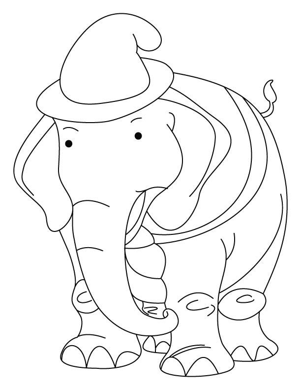 Cute elephant coloring pages az coloring pages for Cute elephant coloring pages
