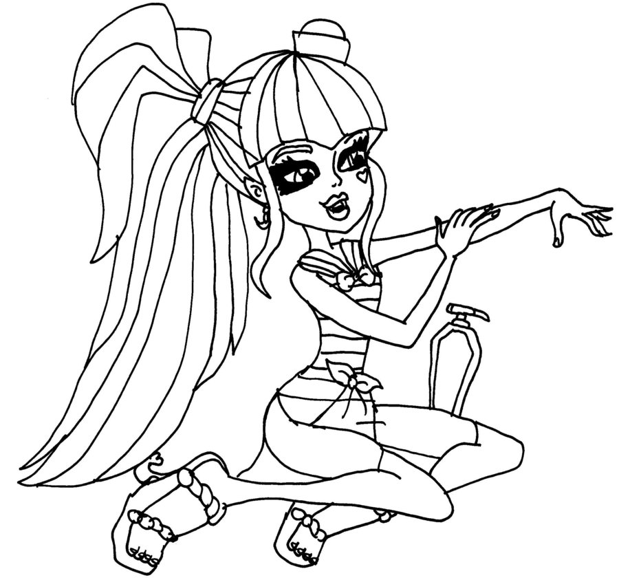 Monster High Draculaura Coloring Pages Az Coloring Pages Coloring Pages For High Draculaura Printable