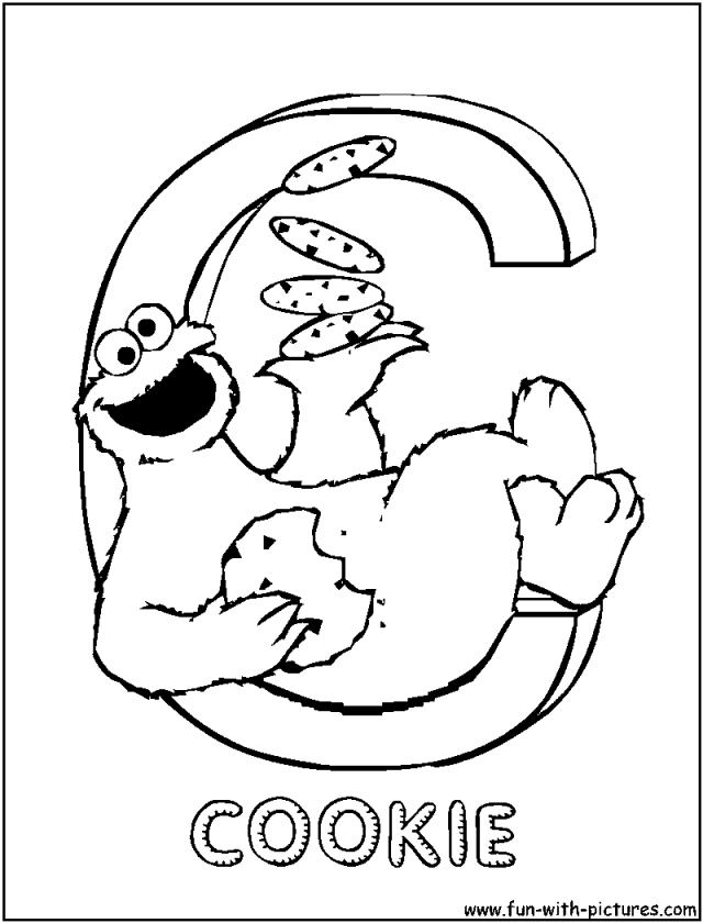 cookie coloring pages to print pin printable alphabet letters
