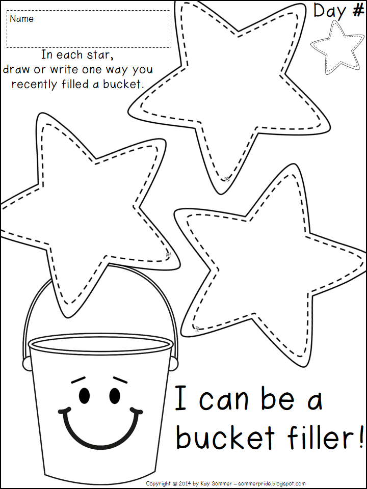 Bucket Filler Coloring Page Bucket Filler Coloring Pages