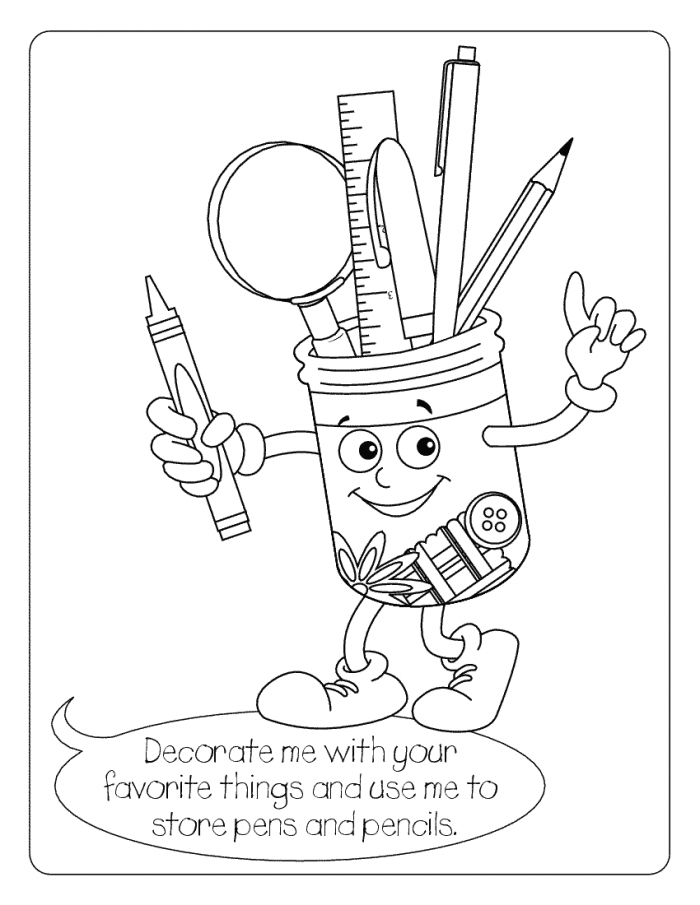 school stuff coloring pages - photo#15