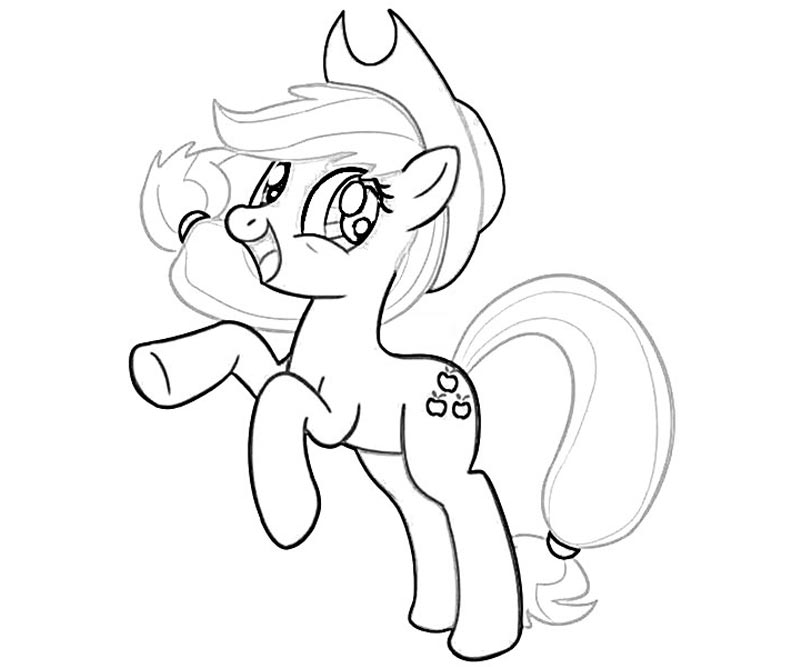 Applejack Pony Coloring Page Images Pictures