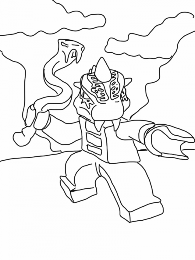 Images Lego Ninjago Snakes Coloring Pages