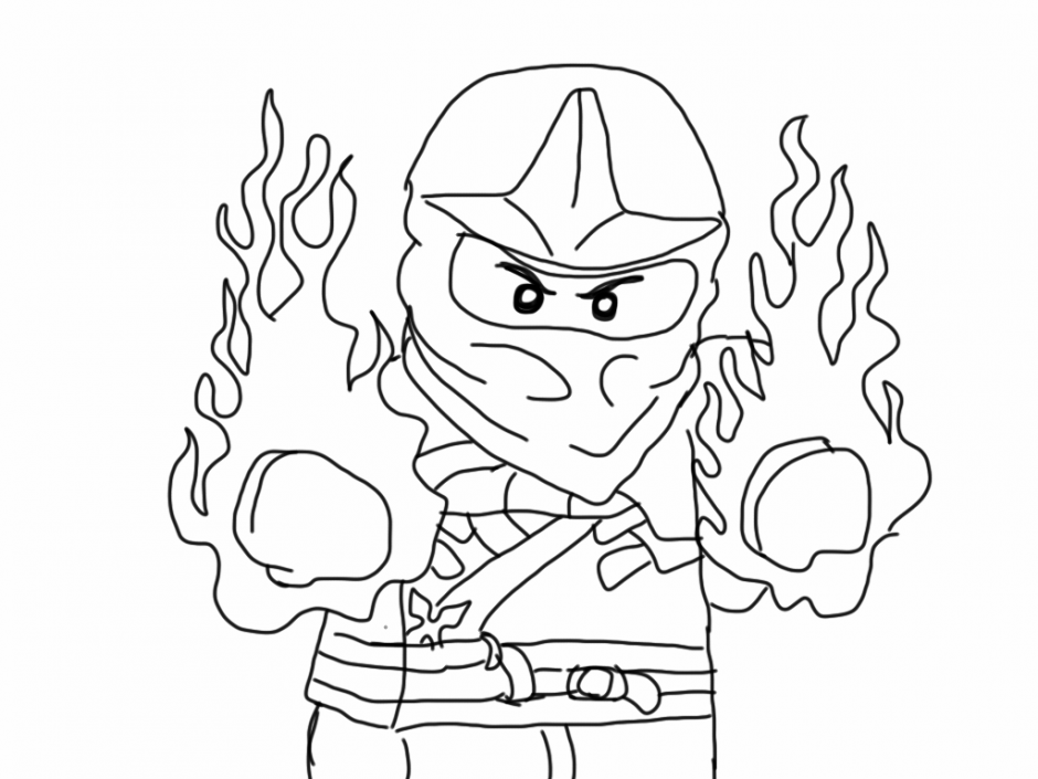 Ninjago coloring pages kai coloring home for Ninjago kai coloring pages