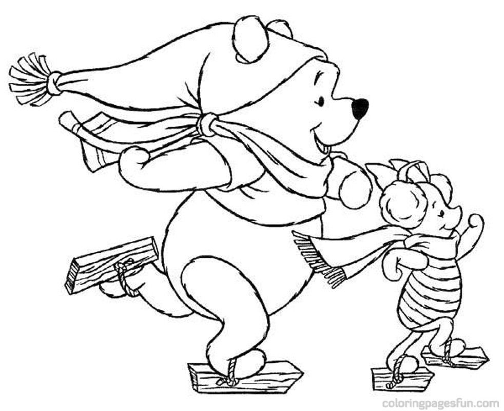 Printable Disney Christmas Coloring Pages