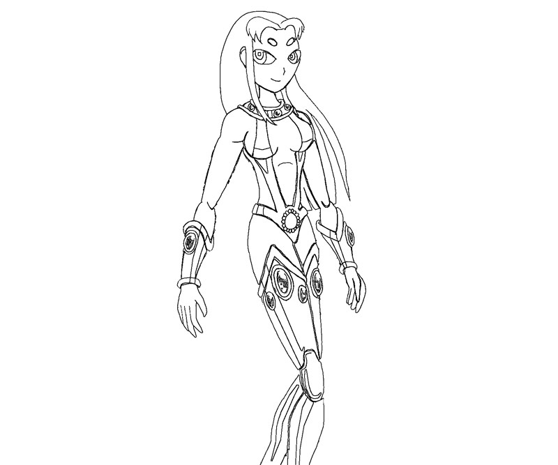 starfire coloring pages online - photo#20