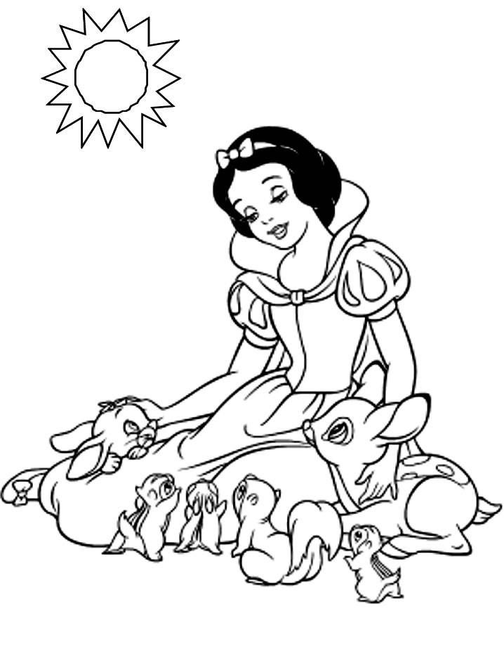 Coloring pages snow white and the seven dwarfs - picture 8