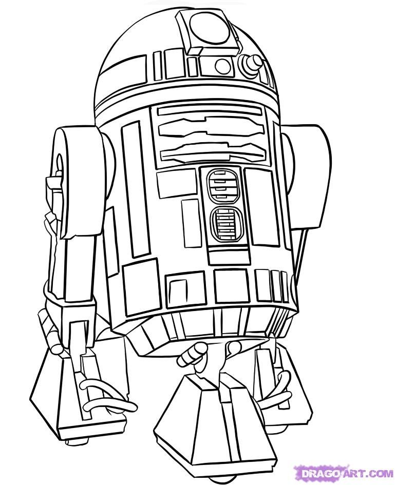 r2d2 coloring pages - photo #7
