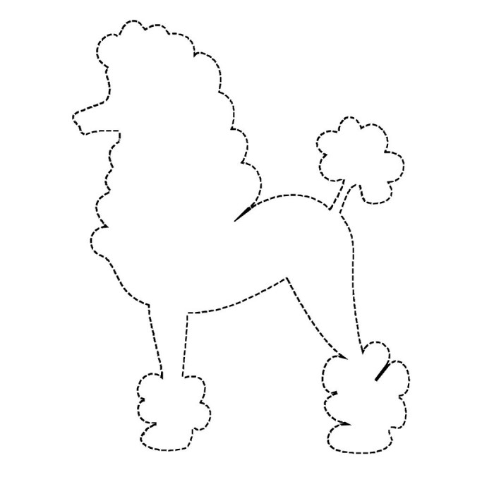 coloring pages of poodle dogs - photo#14