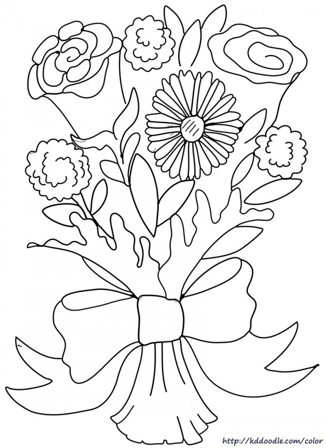 coloring pages daisies and flowers - photo#25