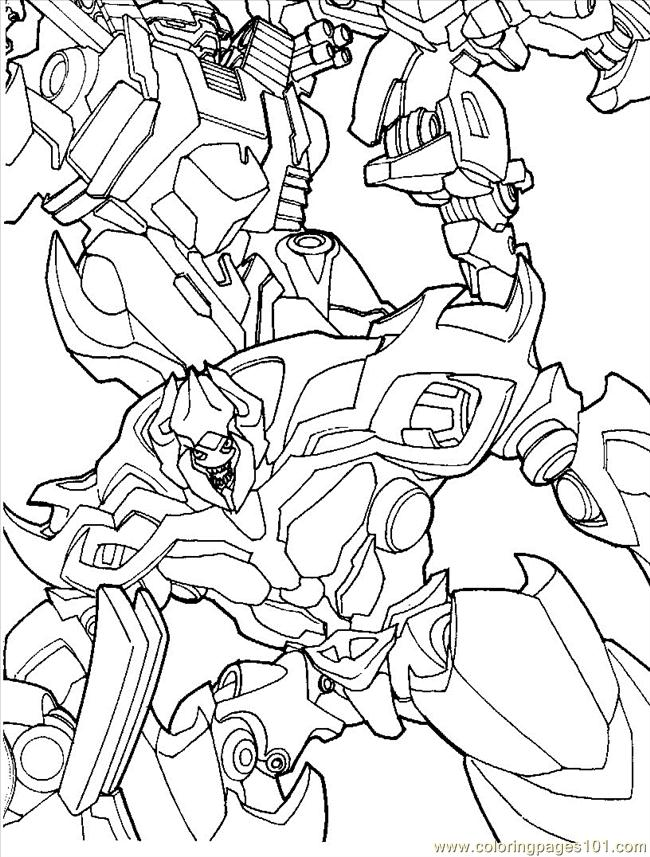 Coloring Pages Transformers (07) (Cartoons > Transformers) - free