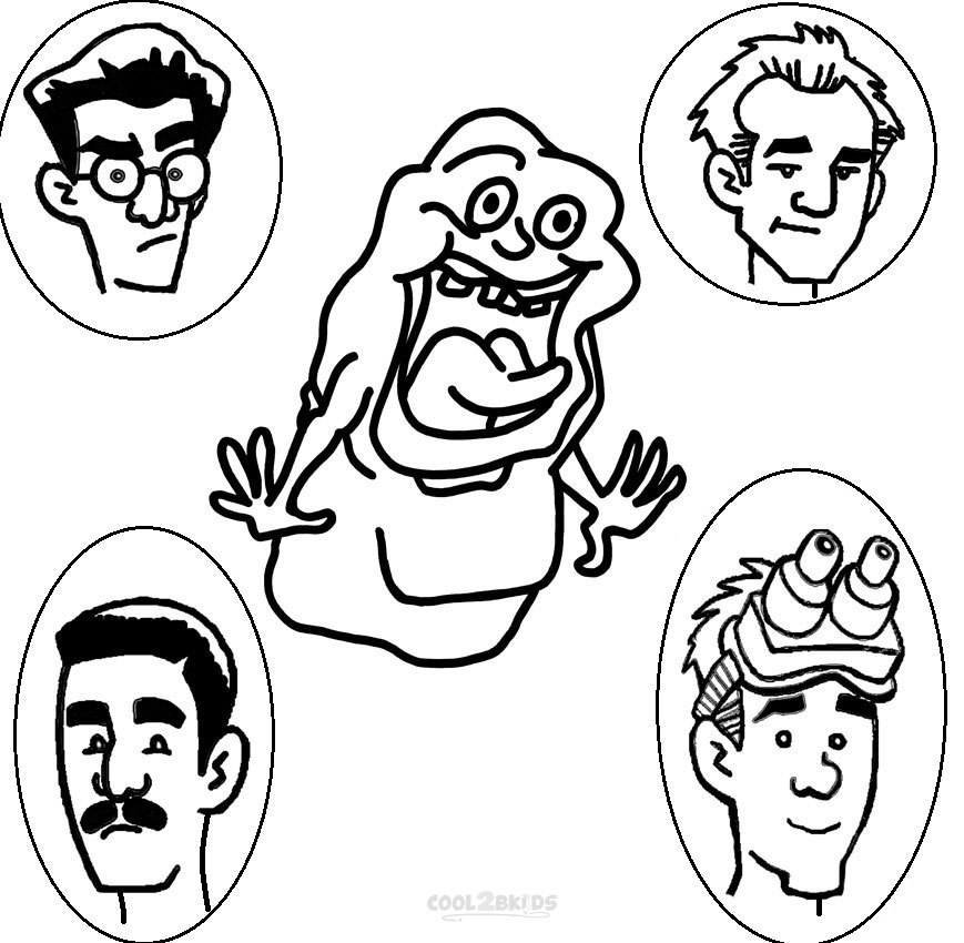 Ghostbusters Coloring Pages Sketch