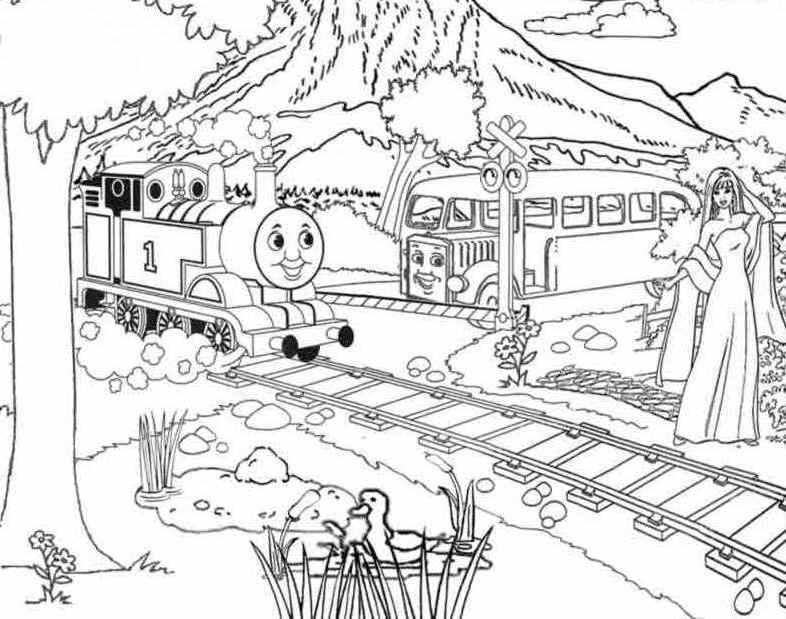 Thomas And Friends Across The Mountains Coloring For Kids - Thomas