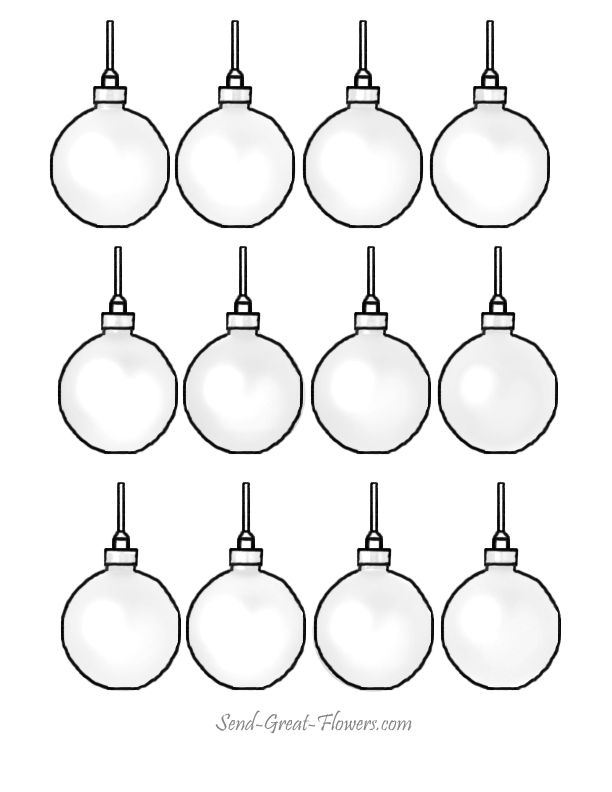 Christmas Tree Ornaments Coloring Pages - Coloring Home