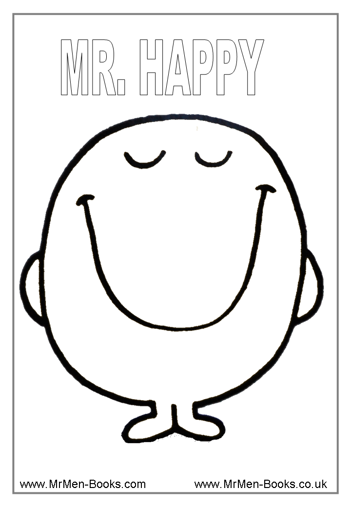 Little miss and mr men coloring pages coloring home for Feeling coloring pages