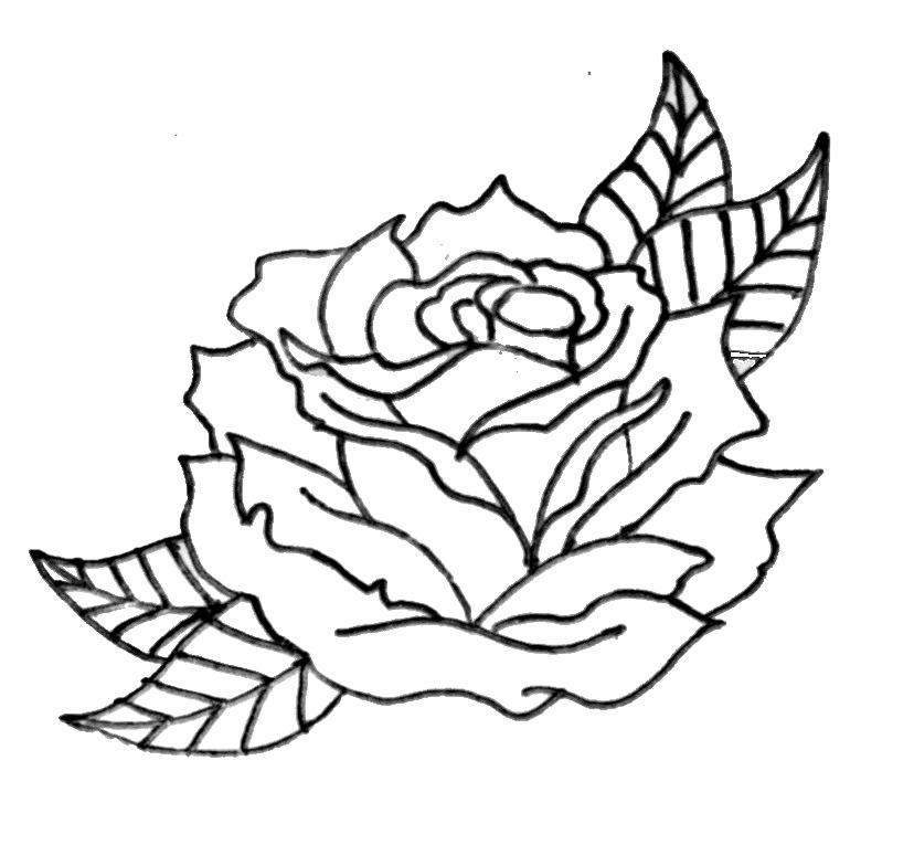 Simple Flower Outline - AZ Coloring Pages