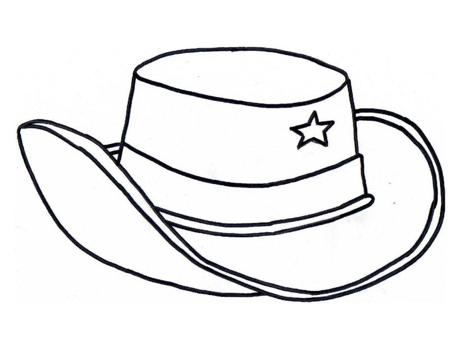 Cowboy Hat Coloring Page Az Coloring Pages Hats Coloring Pages