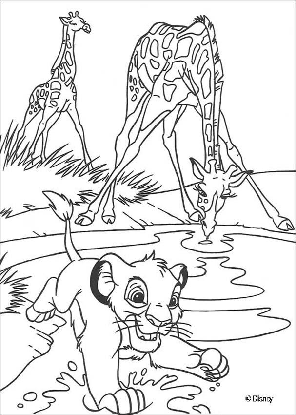 Lion Coloring Pages Pdf : The lion king coloring pages simba with giraffes az