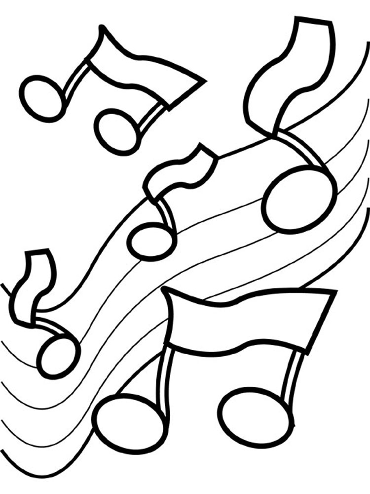 Musical notes coloring pages az coloring pages for Coloring pages of music