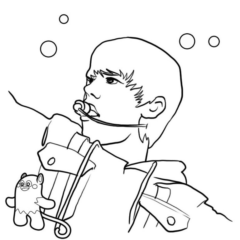 Justin Bieber Coloring Pages Girls