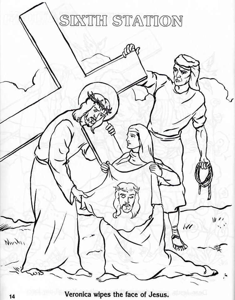 Catholic Coloring Pages Stations Of The Cross - Free Printable