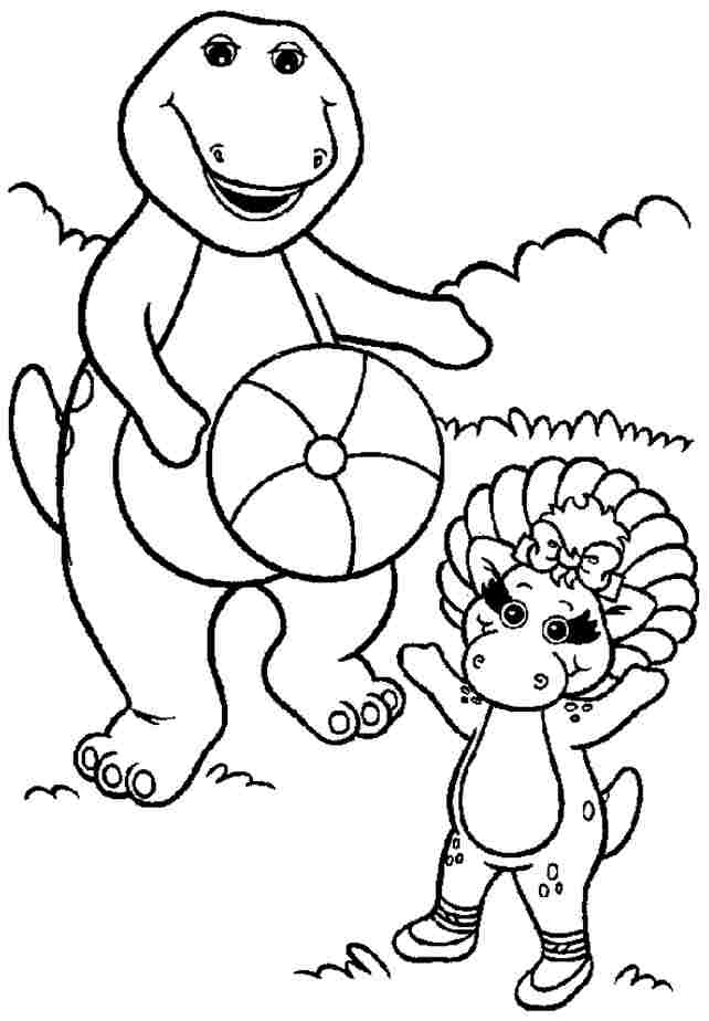 barney online coloring pages - photo#36