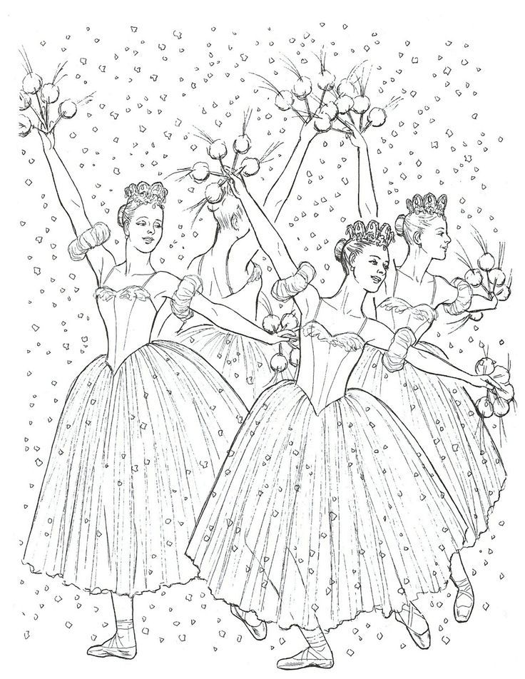 nutcracker suite coloring pages free - photo#35