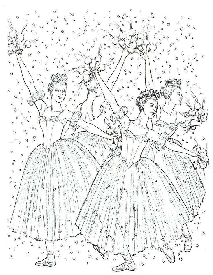 Nutcracker Ballet Coloring Page