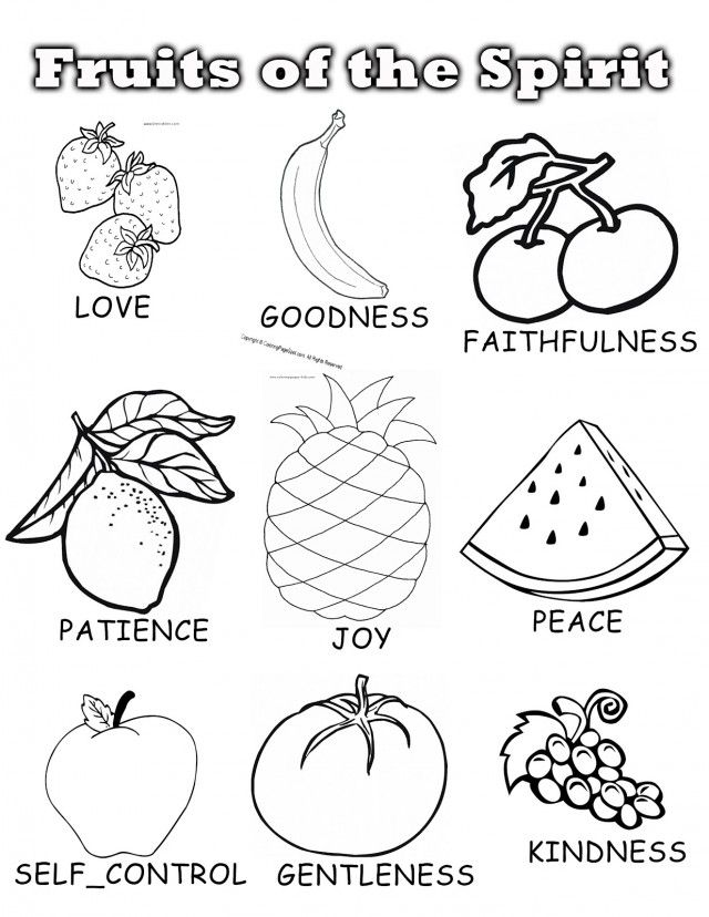 Fruits Of The Spirit Coloring Page - Coloring Home