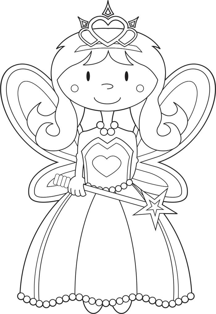 Fairy Princess Coloring Page Az Coloring Pages Princess Drawings Free Coloring Sheets