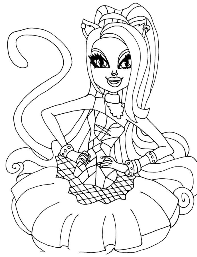 Pin Monster High Coloring Pages All Characters Together On