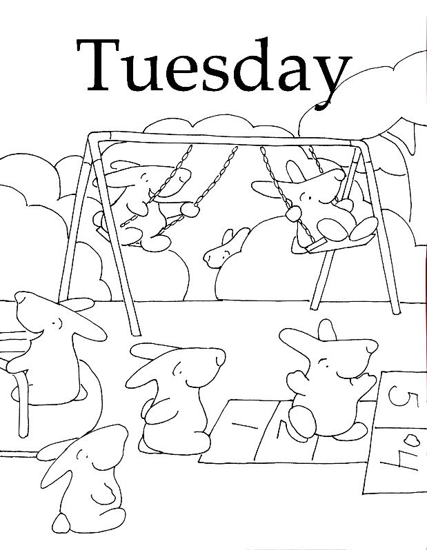 Days Of The Week Coloring Pages Coloring Home Days Of The Week Coloring Pages