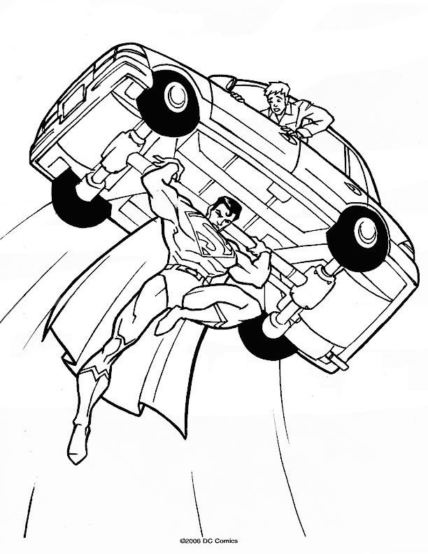 superman 999 coloring pages