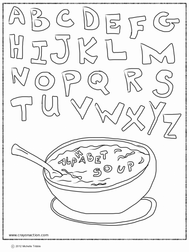 Alphabet Soup Coloring Page | Printable Coloring Pages