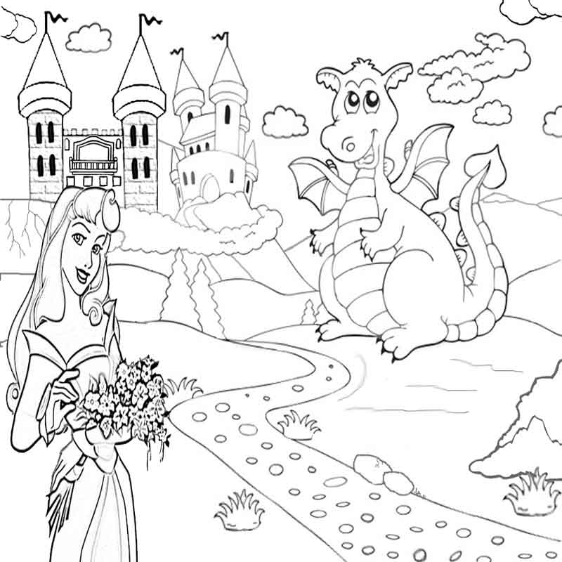 Colouring Pages Princess Castle : Princess castle coloring page home