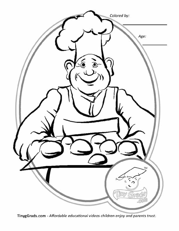 baker coloring page - baker coloring pages 399 free printable coloring pages